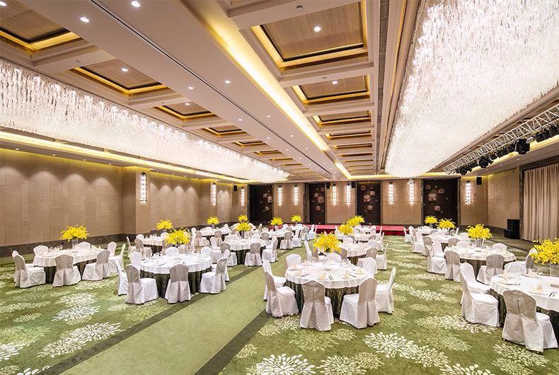 云溪厅是最适合大型婚宴场所,高贵而又隆重