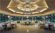 南海翼厨艺凌波阁,落地玻璃窗环绕,360度园林景观