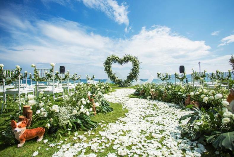 全海景婚礼草坪