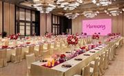 868平方米,8米高无柱型设计,可以灵活分开成3个独立宴会厅。